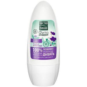 Фитодезодорант-ролик  защита от запаха и влаги, 50 мл Чистая линия