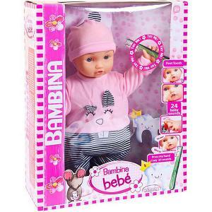 Кукла-пупс  Bambina Bebe Мой первый зуб, 46 см Dimian. Цвет: розовый
