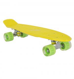 Скейтборд  S-2206E, цвет: желтый Leader Kids
