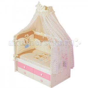 Комплект в кроватку  Принцесса (7 предметов) Селена (Сдобина)