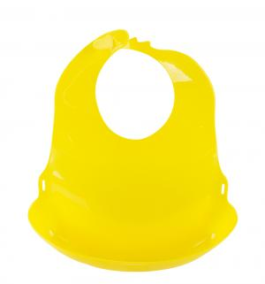 Слюнявчик  с отворотом, цвет: желтый Lubby