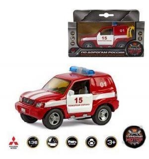 Инерционная машинка  Mitsubishi Пожарная охрана 13 см Пламенный мотор