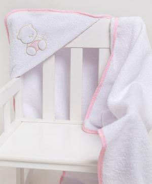 Полотенце уголок с вышивкой Мишка Мой Ангелочек