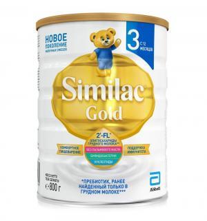 Детское молочко  Gold 3 с 12 месяцев, 800 г Similac