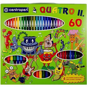 Подарочный набор Centropen Quatro II, 60 предметов. Цвет: зеленый