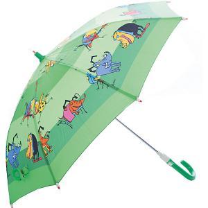 Зонт-трость, детский, со светодиодами, , попугай, зеленый Zest. Цвет: зеленый
