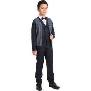 Комплект Scool: жилет и брюки S'cool. Цвет: темно-синий