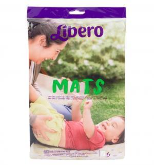Пеленки  Для смены подгузника 50х70 см, 6 шт, цвет: белый Libero