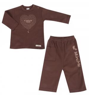 Комплект кофта/брюки , цвет: коричневый TL Minime