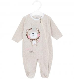 Комбинезон  Hello baby, цвет: бежевый/розовый Koala