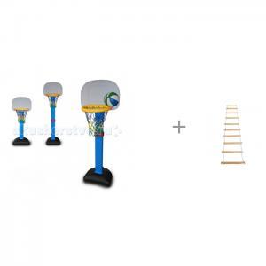 Ching-Ching Стойка баскетбольная со щитом и лестница веревочная КМС BabyOne