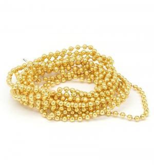 Новогоднее украшение  Бусы-шарики золото Яркий Праздник