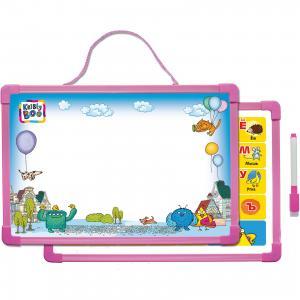 Доска для рисования с алфавитом, маркером (розовая) Kribly Boo
