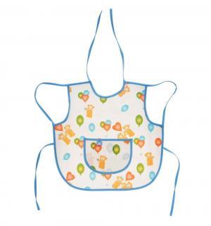 Фартук  Мишки защитный из клеенки с ПВХ-покрытием, цвет: белый Колорит