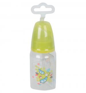 Бутылочка  полипропилен с рождения, 125 мл, цвет: желтый Мир Детства