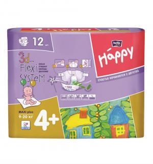 Подгузники  Maxi Plus (9-20 кг) 12 шт. Bella Baby Happy