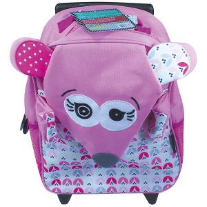 Рюкзак-чемодан Deglingos Coquelicos La Souris розовый. Цвет: розовый