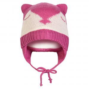 Шапка с ушками DEUX PAR. Цвет: белый:розовый