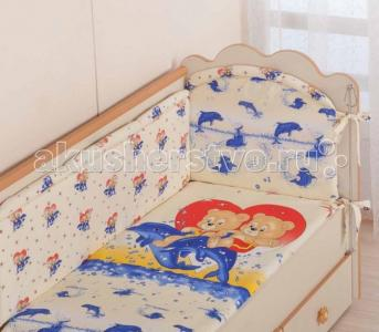Комплект в кроватку  59 (7 предметов) Селена (Сдобина)
