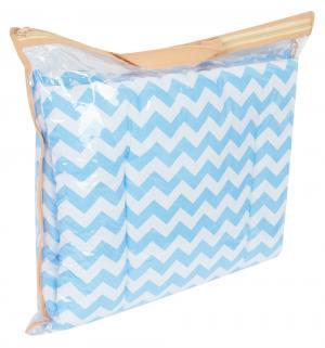 Комплект в коляску Зиг-заг матрас/подушка, цвет: голубой Leader Kids