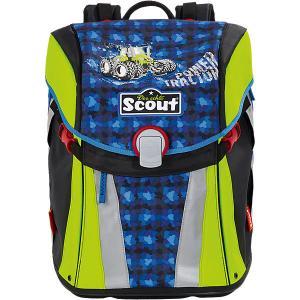 Ранец  Sunny Трактор с наполненеием Scout. Цвет: синий/зеленый