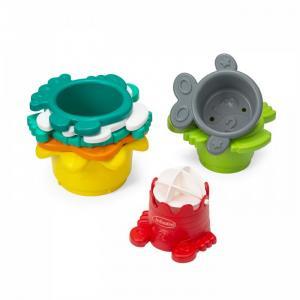 Разноцветные стаканчики-сито для ванны Infantino