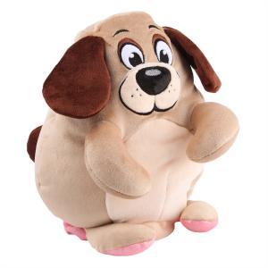 Игрушка-вывернушка  Собака-Свинья 30 см цвет: бежевый СмолТойс