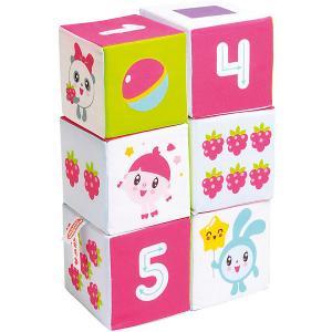 Мягкие кубики  Малышарики Учим Формы, Цвет и Счёт Мякиши. Цвет: разноцветный