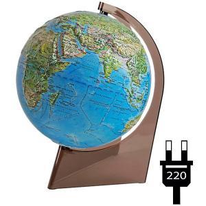 Глобус Земли «Двойная карта» рельефный с подсветкой на треугольнике Глобусный Мир