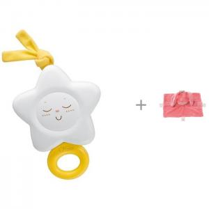 Подвесная игрушка  Звезда и Nattou мягкая Doudou Lapidou Кролик Chicco