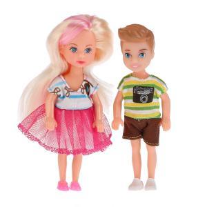 , Набор из 2-х кукол Машенька и Сашенька, 12см. Карапуз