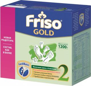 Заменитель New 2 Gold Lock Nutri 6-12 мес 1200 г Friso