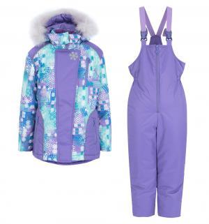 Комплект куртка/брюки  Кристаллик, цвет: сиреневый Аврора