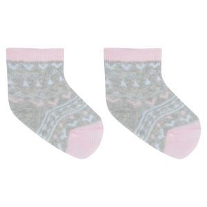 Носки  Меланж, цвет: серый/розовый Crockid