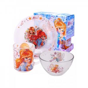 Набор стеклянной посуды Winx Club Дизайн 2 (3 предмета) ND Play