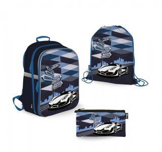 Комплект  рюкзак+пенал+мешок для обуви 39х28х15 см Seventeen