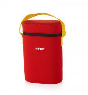Термосумка  на 2 бутылочки для бутылочек, цвет: красный Farlin
