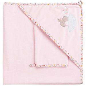 Полотенце-уголок Iris & Lali с варежкой Nattou