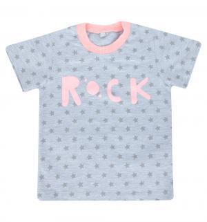 Футболка  Я люблю рок, цвет: серый MM Dadak