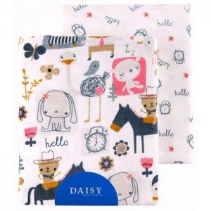 Пеленка  фланель 90х145 2 шт. Daisy