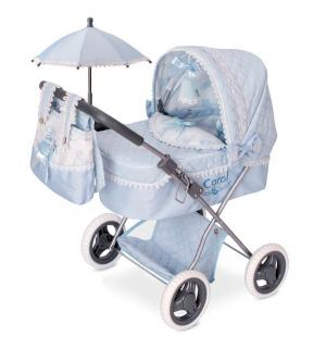 Кроватка для кукол  Кэрол с сумкой и зонтиком 65 см DeCuevas