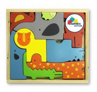 Деревянная игрушка  Пазл В мире животных Фабрика фантазий