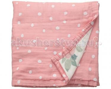Одеяло  муслиновое Rosy and Dewdrops 122х122 см Bebe au Lait