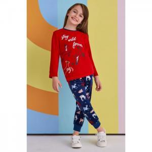 Комплект для девочки RP1384 (лонгслив, брюки) Roly Poly