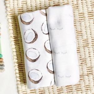 Пеленка  Кокосы/Глазки 115х115 см 2 шт. Mjolk