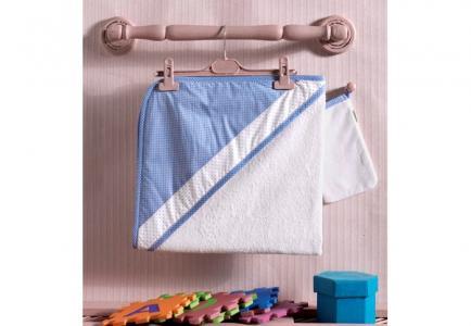 Комплект полотенце-уголок + варежка Little Farmer Kidboo