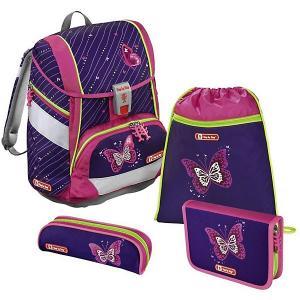 Ранец-рюкзак с наполнением Hama Step By 2in1 Shiny Butterfly. Цвет: фиолетовый