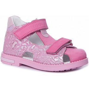 Сандалии  для девочки Dandino. Цвет: розовый