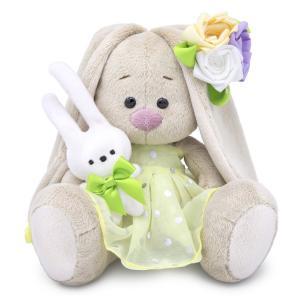 Мягкая игрушка  Малыши Зайка Ми с зайчиком и нарядным цветком 15 см Budi Basa