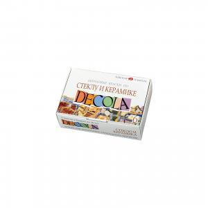 Краски по стеклу и керамике 6 цветов 20мл Decola Невская палитра